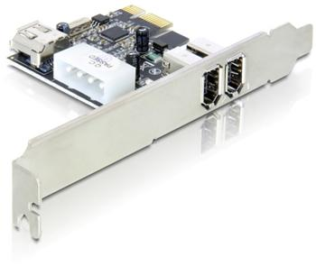 Adaptér PCI Express x1 2+1x FireWire port + low profile
