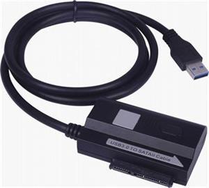 Adaptér Premium USB 3.0 - SATA adaptér s káblom, napájaci adaptér