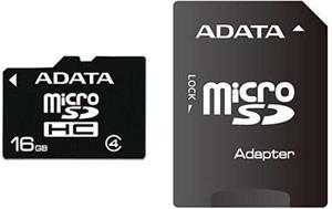 ADATA microSDHC, 16GB + adaptér