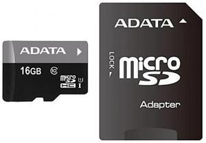 ADATA Premier microSDHC, 16GB + adaptér