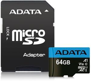ADATA Premier microSDXC pamäťová karta, 64GB + adaptér
