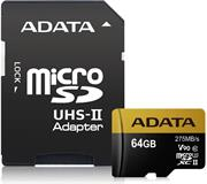 ADATA Premier One microSDXC pamäťová karta, 64GB + adaptér