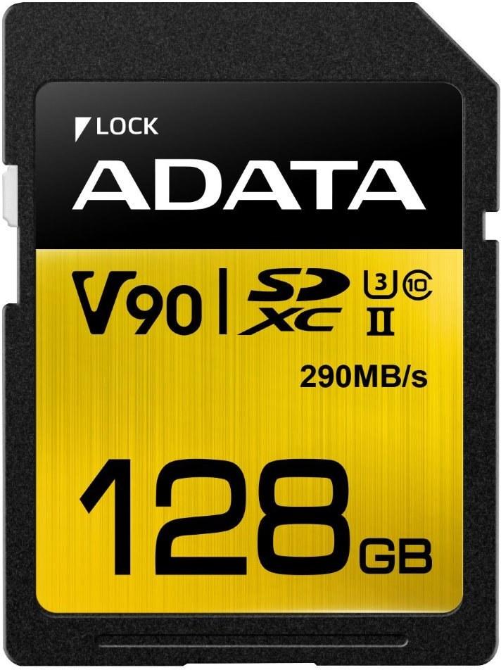 Adata Premier One SDXC, UHS-II U3, Class 10, V90, 128 GB