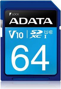 Adata Premier SDXC, UHS-I U1, Class 10, V10, 64 GB