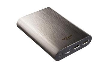 Adata PV110, powerbank 10400 mAh, titánový, 1A+2.1A/5V