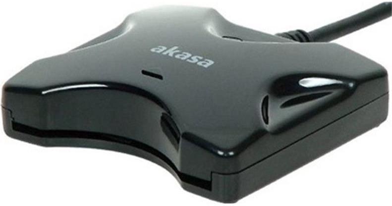 Akasa AK-CR-03BK, externá USB čítačka eID, čierna