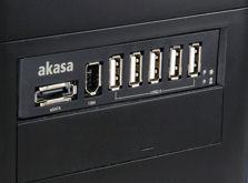 "AKASA AK-ICR-08, 3,5"" interná mechanika s vystupmi 5xUSB,1xeSATA,,1xFi"
