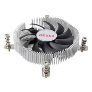 AKASA chladič CPU AK-CC7129BP01/ pro Intel 775,1156,1155/ Mini-ITX/ výška 21mm