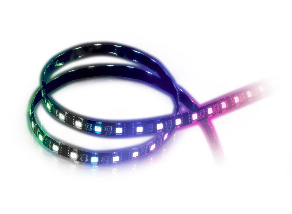 AKASA LED pásek RGBW VEGAS MBW / AK-LD06-50RB / 30x LED / 9x magnet / 12V / 50cm / multicolor