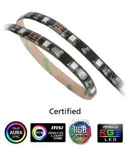 AKASA LED pásek Vegas MB / AK-LD05-50RB / 15x LED / 10x magnet / 12V / 50cm / 4-pin / multicolor