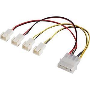 Akasa redukcia Molex na 4x 3-pin fan konektor