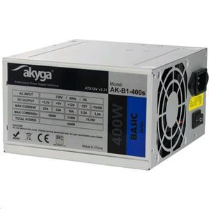 Akyga ATX 400W zdroj, fan8cm, P4 2xSATA