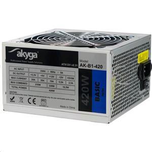 Akyga ATX 420W zdroj, fan12cm, P4 3xSATA