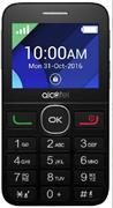Alcatel 2008G, telefón pre seniorov, čierno-metalovo strieborný