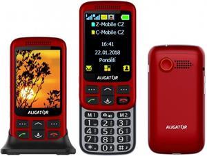 Aligator VS900 Senior, DualSim, červený - otvorené balenie