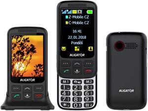 Aligator VS900 Senior, DualSim, čierny