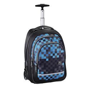 All Out Trolley Bolton, Blue Pixel, školský ruksak alebo ruksak na notebook