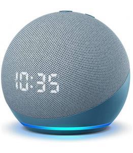 Amazon Echo Dot 4, s hodinami, modrý