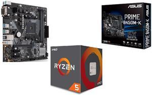 AMD Ryzen 5 2600, BOX, + doska ASUS B450M-K (sada)