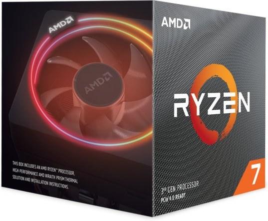 AMD Ryzen 7 3800XT, BOX, bez chladiča