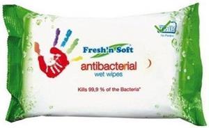Antibakteriálne vlhčené utierky Fresh and Soft 15 ks utierok