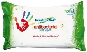 Antibakteriálne vlhčené utierky Fresh´n Soft 60 ks utierok