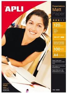 APLI A4 Fotopapier, 120g/m2, matný 120g, 100ks