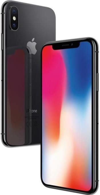 Apple iPhone X, 256GB, sivý