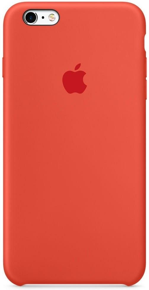 Apple MKY62ZM/A silikónový obal pre iPhone 6s, oranžový