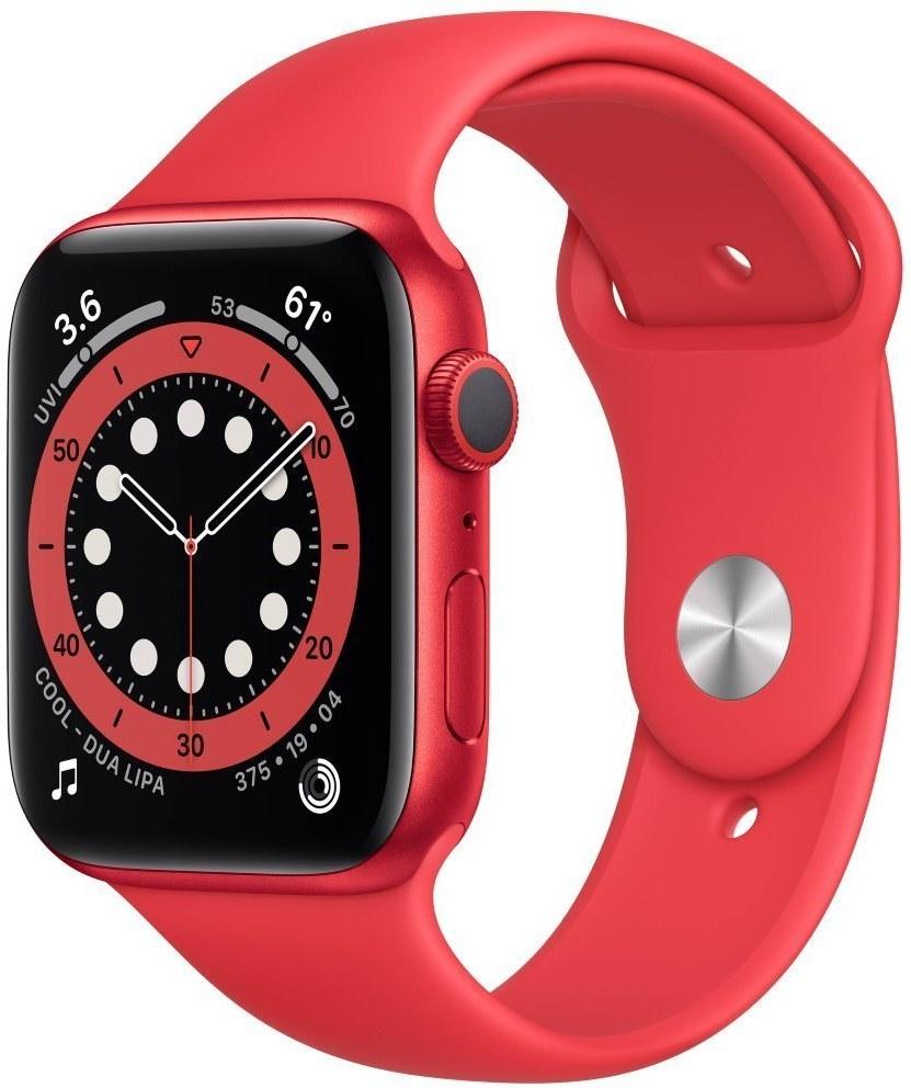 Apple Watch Series 6 GPS, 44mm, červené