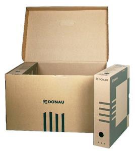 Archívny box 80mm hnedý