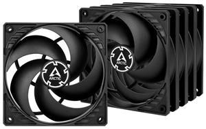 ARCTIC P12 PWM PST sada 5 ks ventilátorů 120mm / PWM / PST / černý