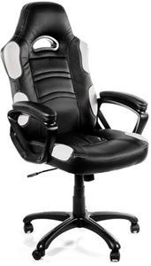 Arozzi ENZO, herná stolička, čierno-biela
