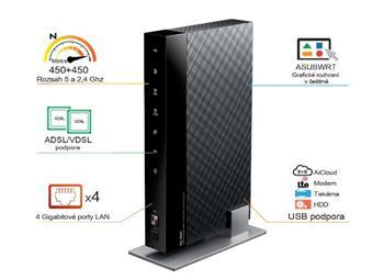 ASUS DSL-N66U Dualband WiFi N900 VDSL/ADSL Modem