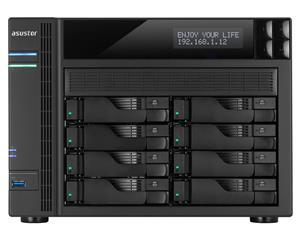 Asustor AS6208T 8-bay HS NAS, Intel Celeron QC, 4 GB DDR3L, 4x GbE, 3x USB 3.0, 2x USB 2.0, 2x eSATA, HDMI 1.4b,