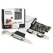 Axago PCEA-SP, PCI-Express adapter 2x seriový port + 1x par.