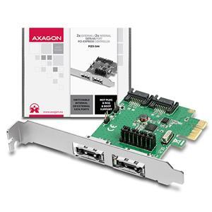 Axago PCES-SA4, PCIe karta, 2x e-SATA/ 2x interný SATA III 6G radič