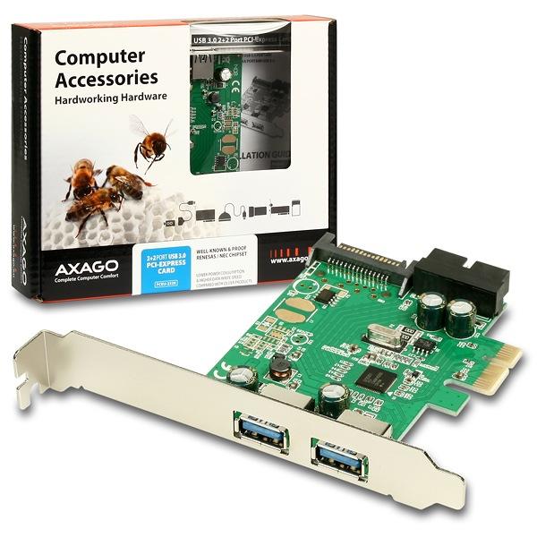 AXAGO PCEU-232R, PCIe adaptér