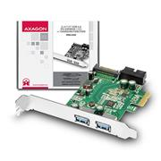 AXAGO PCEU-232V PCIe adaptér 2+2x USB3.0 UASP Charging 3A out VIA + LP