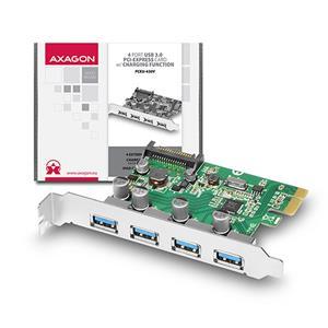AXAGO PCEU-430V PCIe adaptér 4x USB3.0 UASP Charging 3A out VIA