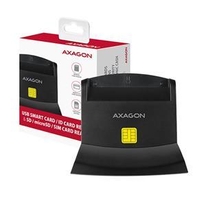 AXAGON CRE-SM2, čítačka eID, SIM, SD