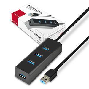 AXAGON HUE-S2BL, USB3.0 hub, 1,2m kábel