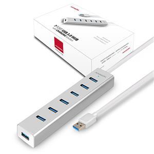 AXAGON HUE-SA7SP, USB3.0 hub s nap. adaptérom