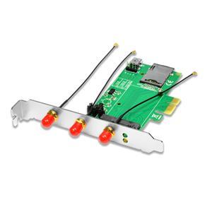 AXAGON PCEM-E3, PCIe - mini PCIe adaptér, SIM slot + 3x SMA konektor