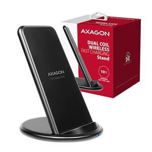 AXAGON WDC-S10D, stojanová bezdrôtová rychlonabíjačka, Qi 5/7.5/10W