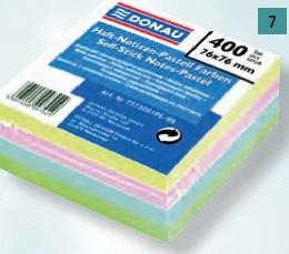 Blok samolepiaci pastelové farby 76x76mm DONAU