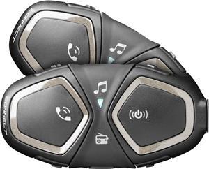 Bluetooth handsfree pre uzavreté a otvorené prilby CellularLine Interphone CONNECT, Twin Pack