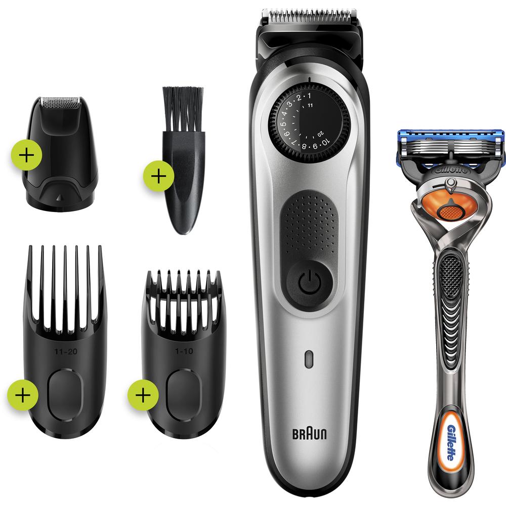 Braun BT 5265 Metallic Silver, zastrihávač fúzov a vlasov
