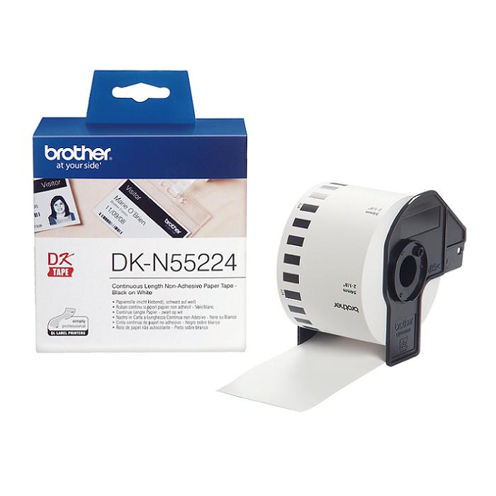 Brother DK-N55224, papierová rolka, nelepivá, 54mm