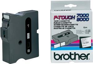 Brother páska TX251 čierna/biela (24mm)